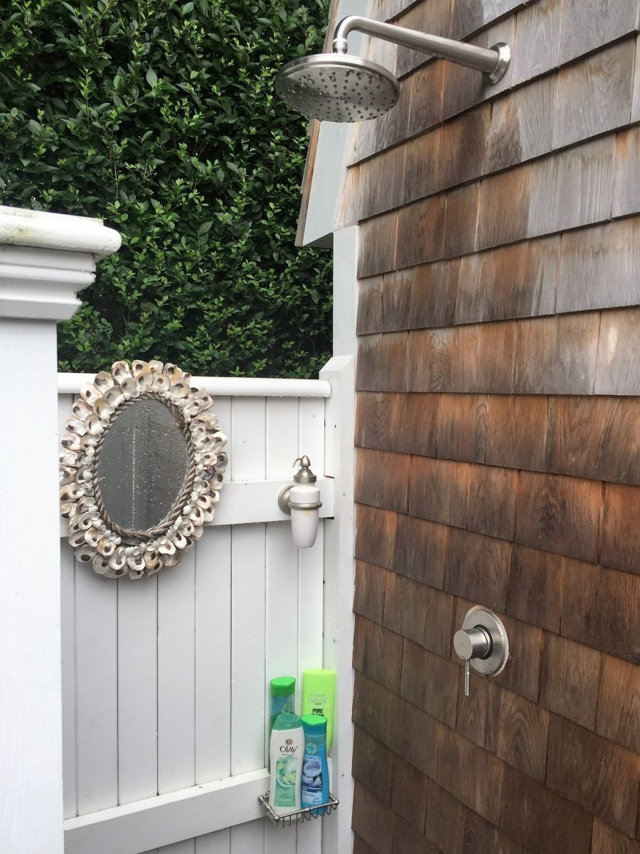 best material for outdoor shower walls