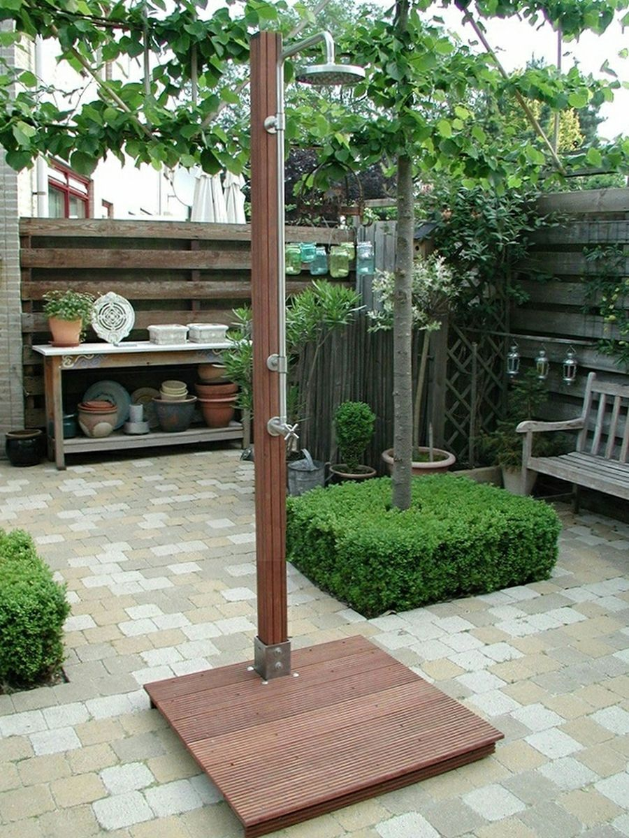free standing outdoor showers