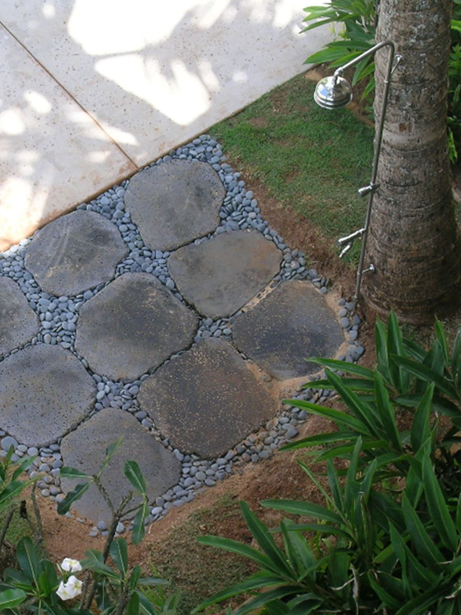 Know The Types Of Outdoor Shower, Outdoor Shower Drainage Pans