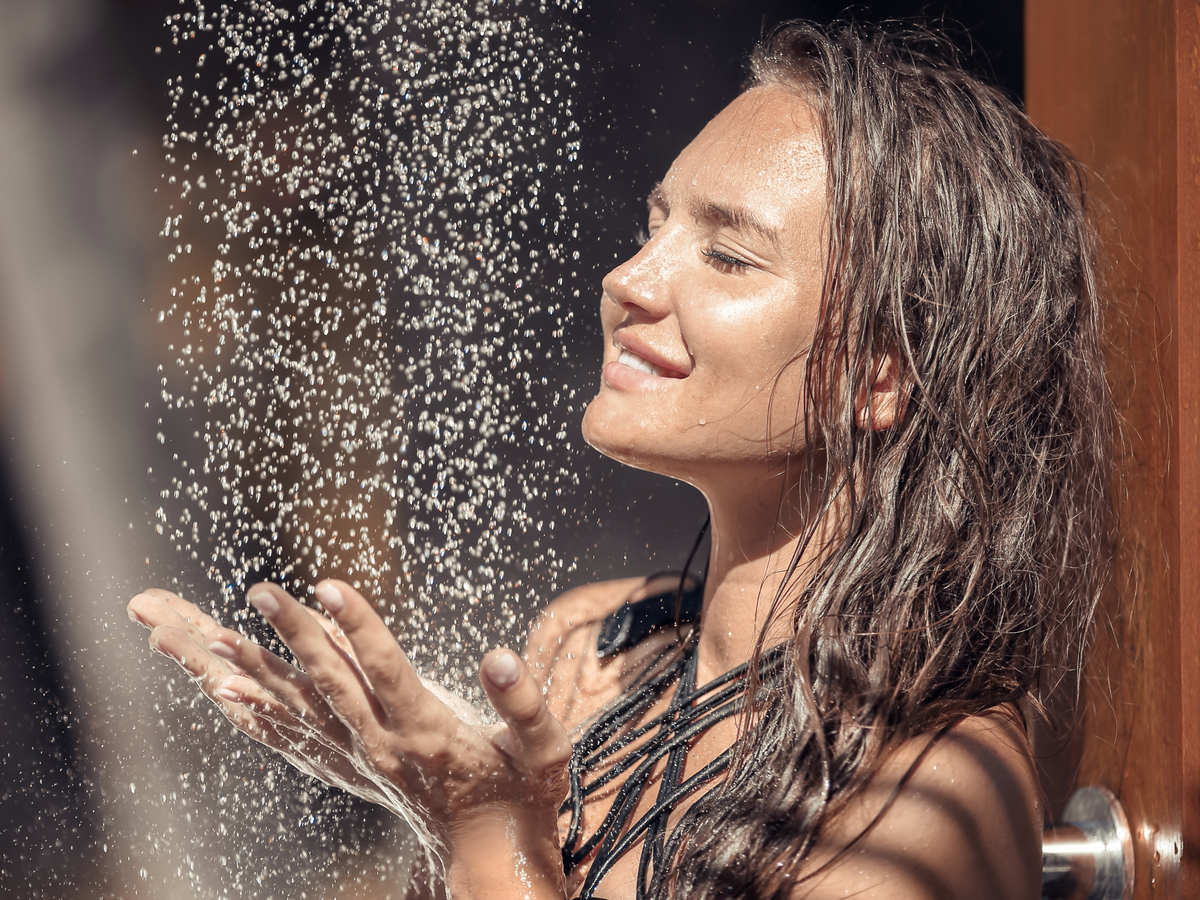 How to heat water for outdoor shower